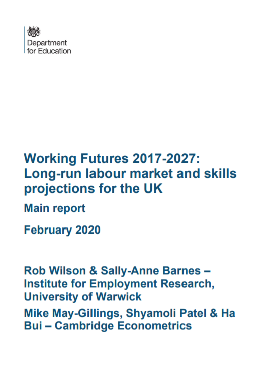 Working Futures 2017-2027: long-run labour market and skills projections