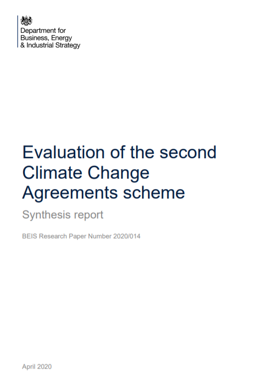 Evaluation of second Climate Change Agreements scheme