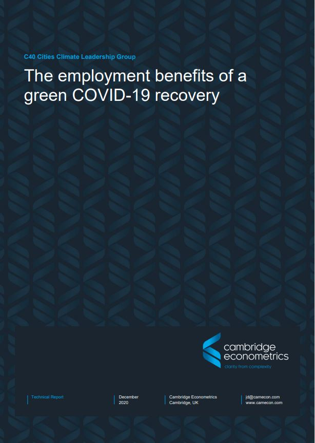 The employment benefits of a Green COVID-19 recovery