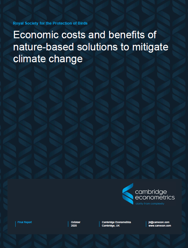 RSPB: Economic benefits of nature-based climate solutions