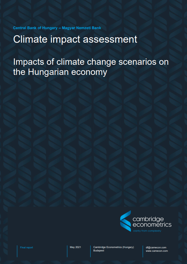 Climate impact assessment for the Central Bank of Hungary