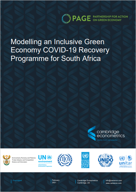 Modelling an inclusive green economy COVID-19 recovery programme for South Africa