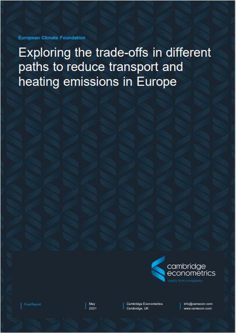 Exploring the trade-offs in different paths to reduce transport and heating emissions in Europe