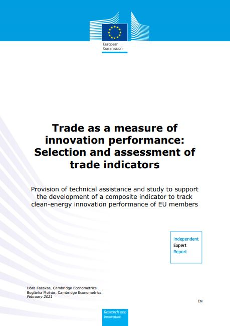 Trade as a measure of innovation performance: Selection and assessment of trade indicators