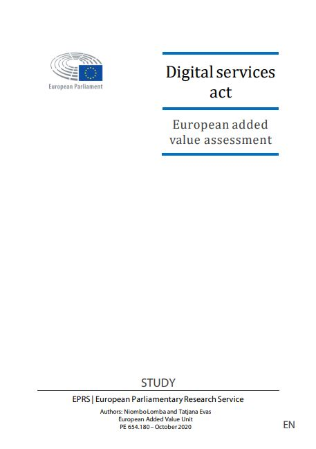 Quantitative Assessment of the European Added Value of Digital Services Act