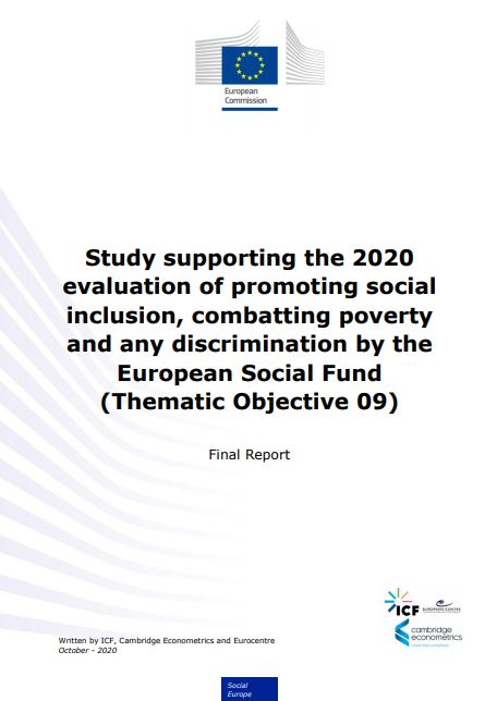 2020 evaluation of promoting social inclusion, combatting poverty and any discrimination by the European Social Fund (Thematic Objective 09)